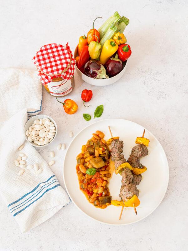 Ratatouille aux légumes frais et Haricots tarbais